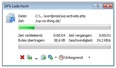 Wordpress Website erstellen Schritt 1