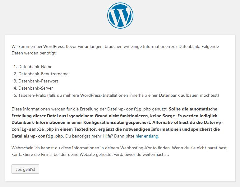 Wordpress Website erstellen Schritt 4